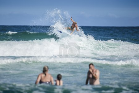 Photo for Surfer on top of breaking  wave - Royalty Free Image