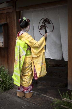 Photo pour Geisha à kyoto - image libre de droit