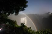 Victoria falls and the Zambezi River in Zimbabwe.