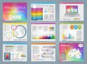 Velká sada prvků infografiky v moderní obchodní styl, to infochat. Šablona prezentace duhové barvy. Použití ve webových stránkách, leták, firemní zprávy, prezentace, reklama, marketing