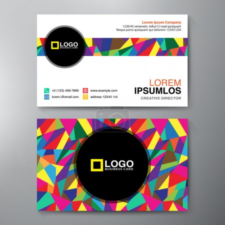 Illustration for Modern Business card Design Template. Vector illustration - Royalty Free Image