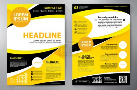 Brochure design a4 template.