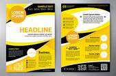 Brochure design a4 template Vector illustration