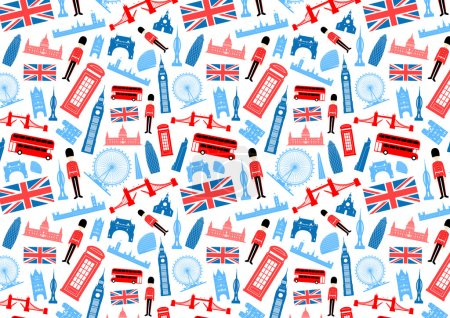 London, England Seamless Pattern