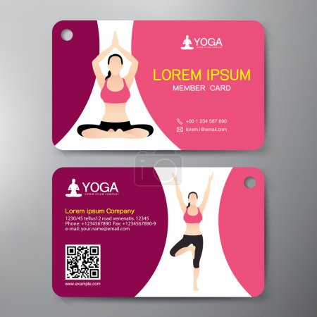 Illustration for Yoga and Sport Card Design Template. Vector illustration - Royalty Free Image