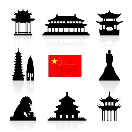 China Landmarks Icon Set