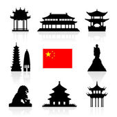 China Landmarks Icon Set