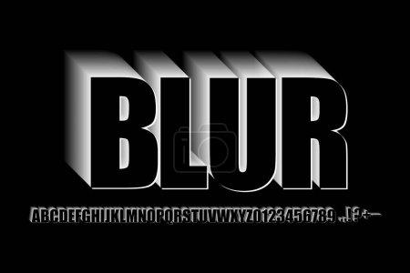 Illustration pour Flou alphabet dans un style moderne. Style rétro tendance. Alphabet d'affichage graphique. Illustration vectorielle. Image de stock. SPE 10. - image libre de droit