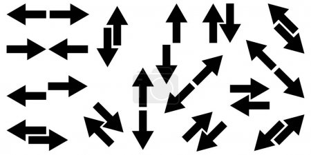 Illustration for Black arrows icon collection. Different direction. Navigation pointer. Cursor emblem. Vector illustration. Stock image. EPS 10. - Royalty Free Image