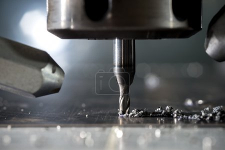 CNC metal machining by mill