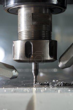 CNC metal machining by mill