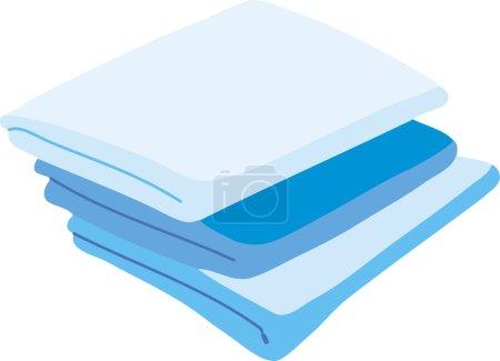 Illustration pour Linge de lit couleur. Illustration vectorielle d'un dessin animé Icône de lin isolée sur fond blanc - image libre de droit