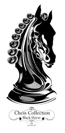 black chess horse