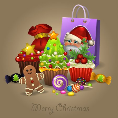 Christmas sweets and presents