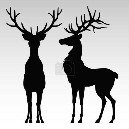 Silhouette of a deers
