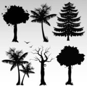 Illustration of silhouettes of trees