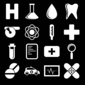 Black and white health icons