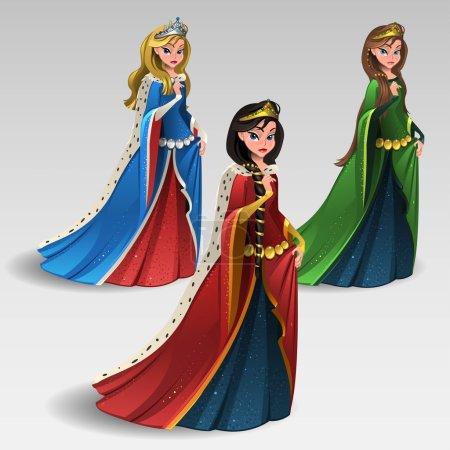 Illustration pour Illustration de jeu de reines - image libre de droit