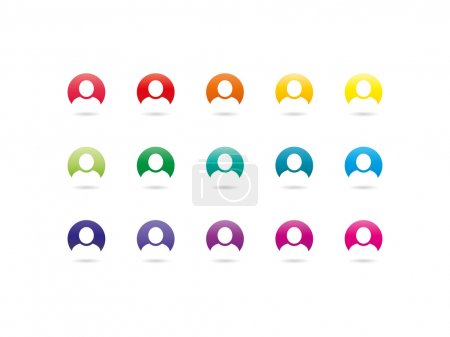 Rainbow spectrum user sign icons