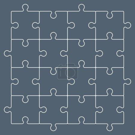 Line puzzle pieces