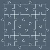 Line puzzle pieces forming a pattern background Vector illustration graphic