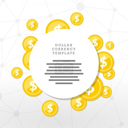 Mainstream currency gold coins. Money concept illustration.