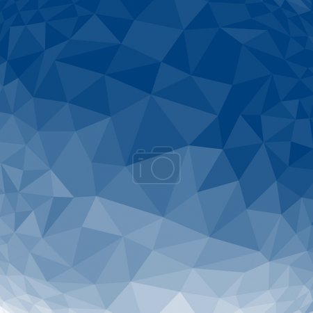 Illustration for Blue abstract geometric rumpled triangular low poly style vector illustration graphic background - Royalty Free Image
