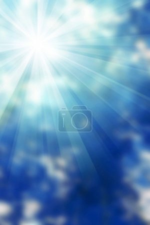 Natural background blurring with sun rays