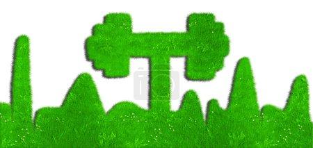 Green dumbbell,green mark...