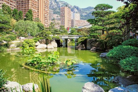 Japanese garden of Monaco