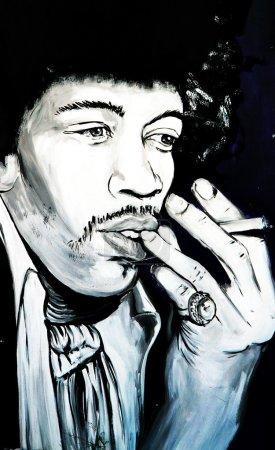 Graffiti Jimi Hendrix portrait