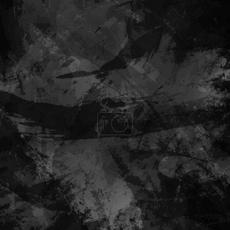Fond grunge abstrait, imitation de coups de pinceau peints à la main avec éclaboussures et gouttes.Texture en couleurs foncées.Lignes de dessin, rayures, taches chaotiques.Illustration vectorielle.