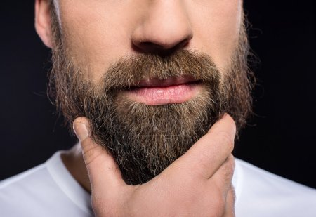 Foto de Beard man. Close-up a man with long beard and mustache. - Imagen libre de derechos