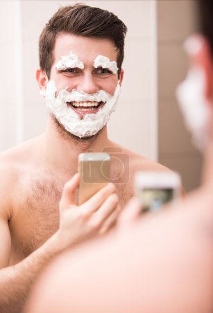 Shaving with fun