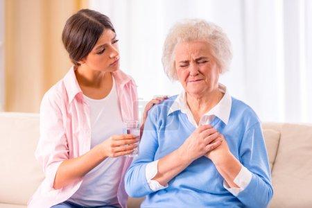 Anciana mujer mayor