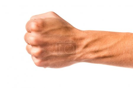 Photo for Male hand sign isolated on a white background - Royalty Free Image
