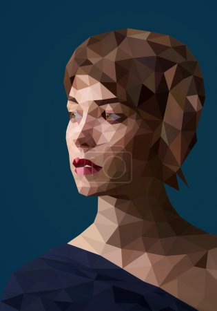 Photo for Low poly abstract portrait - Royalty Free Image