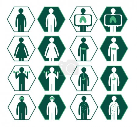 Picture symbols for Hospital the beginning