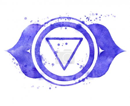 Ajna chakra symbol.