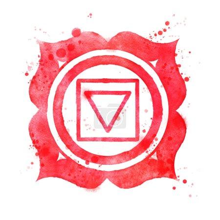 Muladhara chakra symbol.