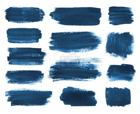 Hand drawn watercolor brush stokes.