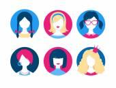 Sada ženské avatary