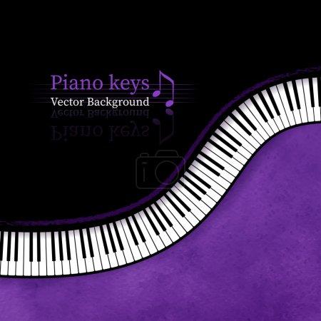 Illustration pour Touches du piano vector background. - image libre de droit