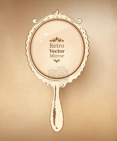 Hand drawn vintage mirror.