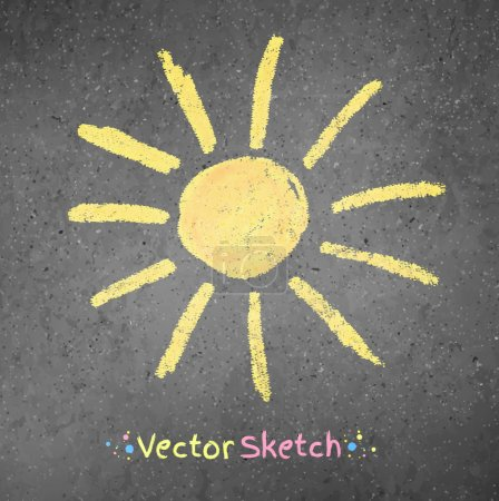 Chalk drawing of sun