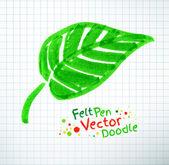 Felt pen leaf