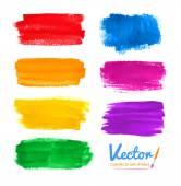 "Постер, картина, фотообои ""Colorful brush strokes."""