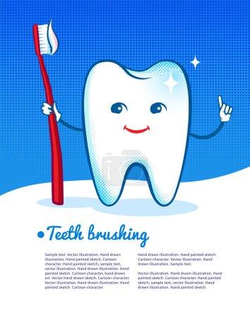 happy cartoon tooth