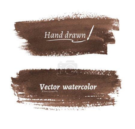 hand drawn brush strokes