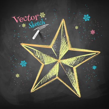 Sketch of Christmas star